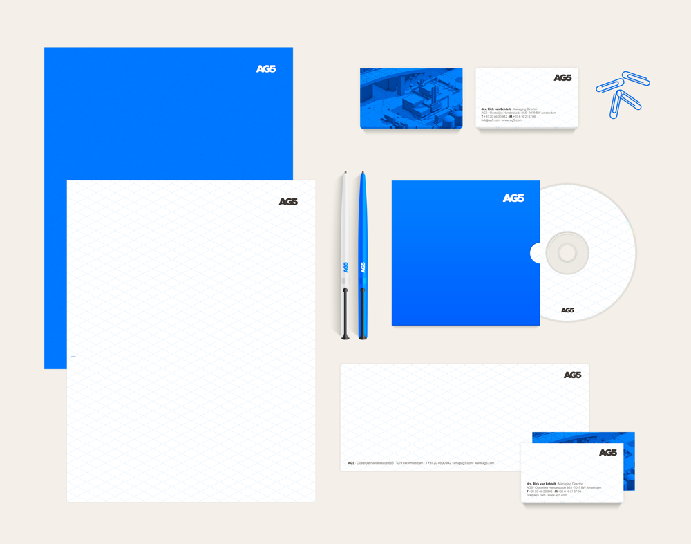 AG5 stationary branding by upstruct