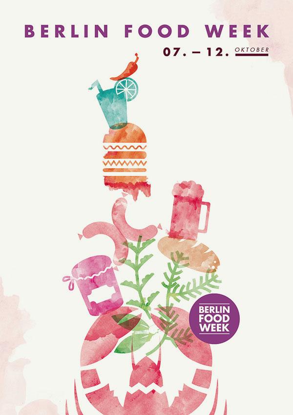 Berlin Food Week 2014 Poster by upstruct
