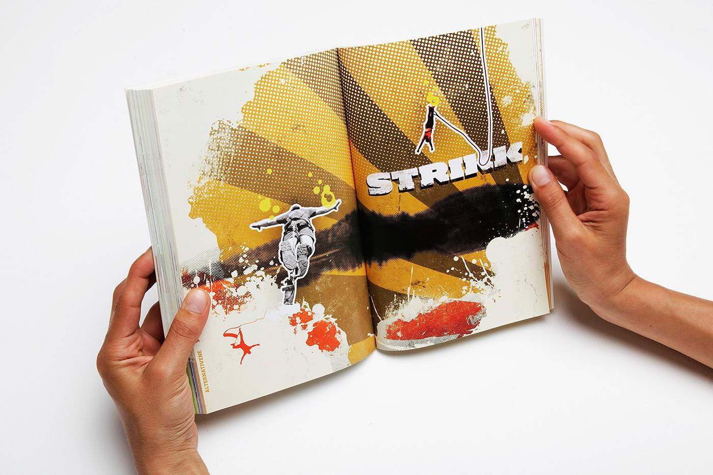 KICK Adrenalinguiden book design by upstruct