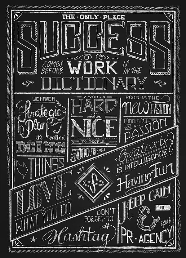 Schröder + Schömbs PR Blackboard Typography by upstruct