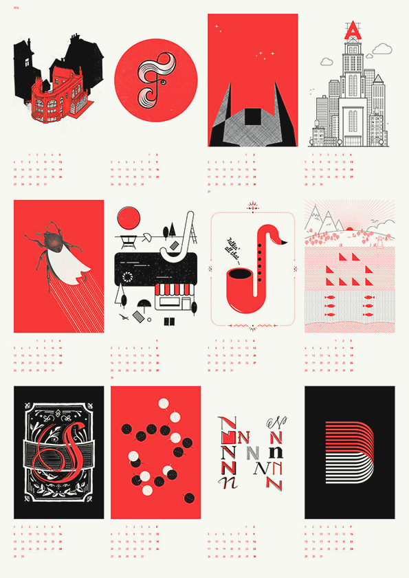Graphic Design Calendar : Upstruct graphic design studio calendar